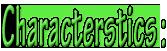 CharactersticsGreen