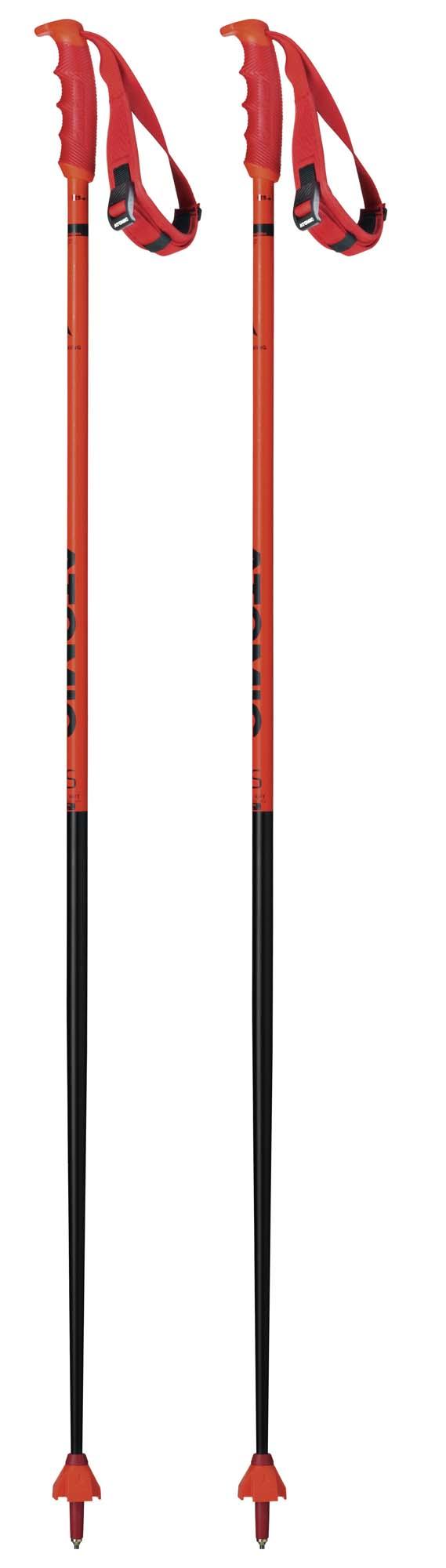 Atomic 2020 Redster RS Blk/Red Ski Poles NEW !! 125,130,135cm