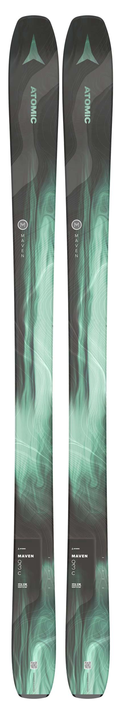 Atomic 2022 Maven 93 C Skis (Without Bindings / Flat) NEW !! 164cm