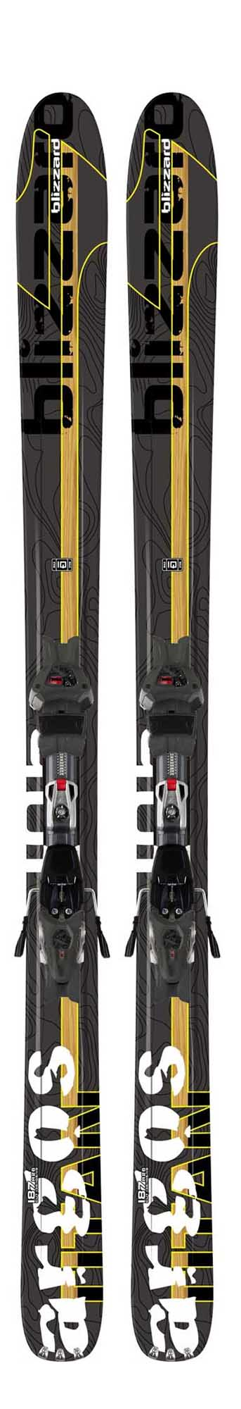 Blizzard 10 - 11 Argos Titan IQ Skis w/Max 14 Bindings NEW !!  187cm
