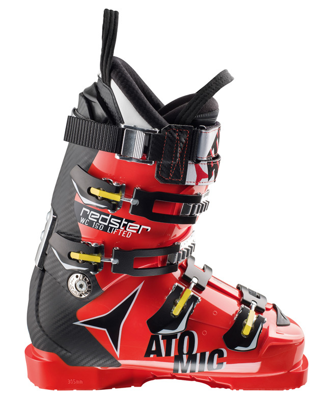 Atomic Redster WC 150 Lifted Red/Blk Ski Boots NEW !! M23.5, M26.5