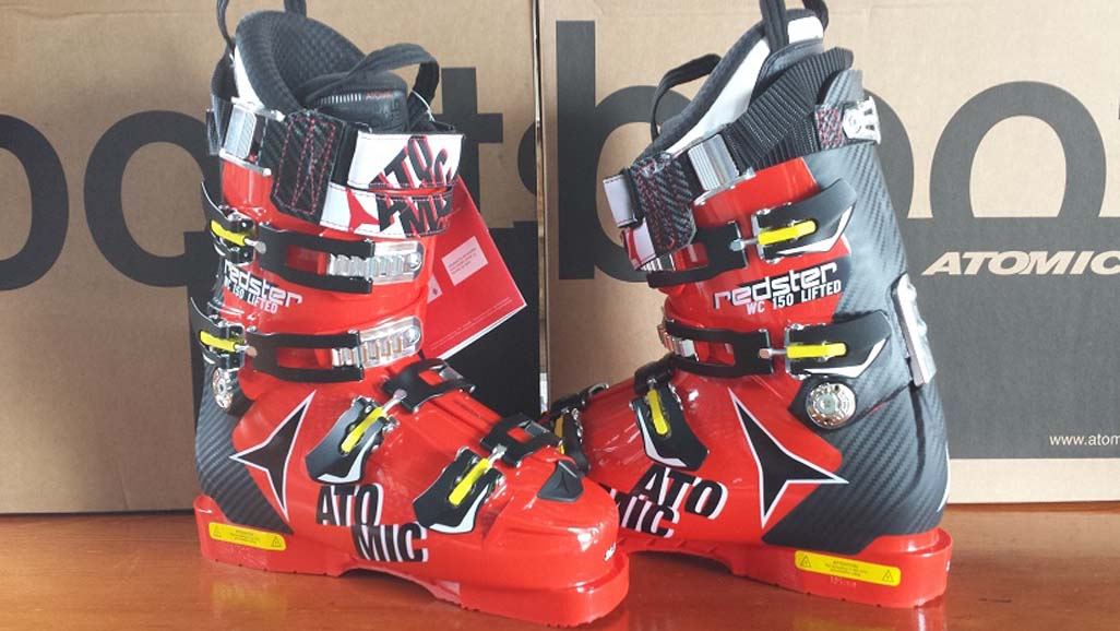 Atomic Redster WC 150 Lifted Red/Blk Ski Boots NEW !! M23.5, M26.5 2