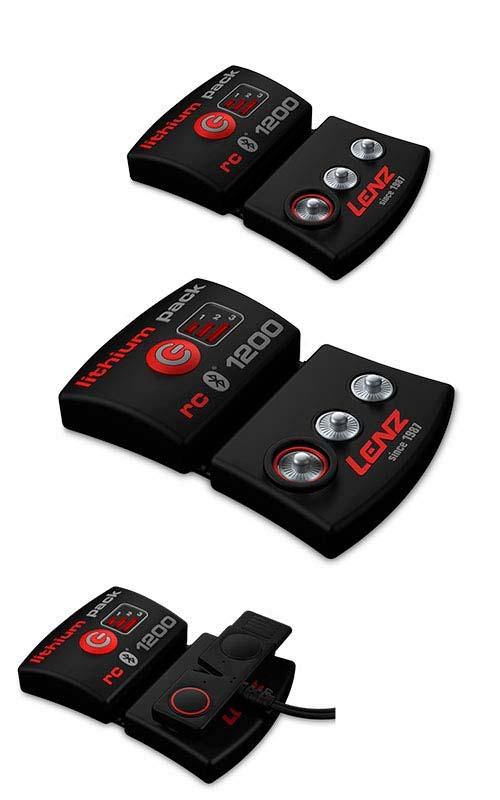 Lenz Heat 4.0 Socks + rcB 1200 Lithium Battery Packs NEW !! Size: S,L,XL 1