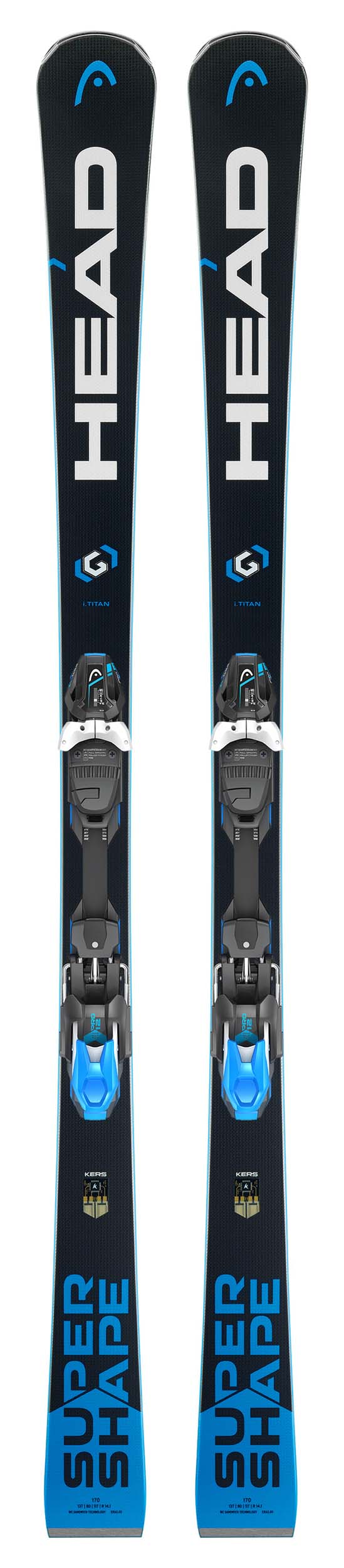 Head 2018 Supershape i.Titan SW Skis w/PRD 12 Bindings NEW !! 163cm