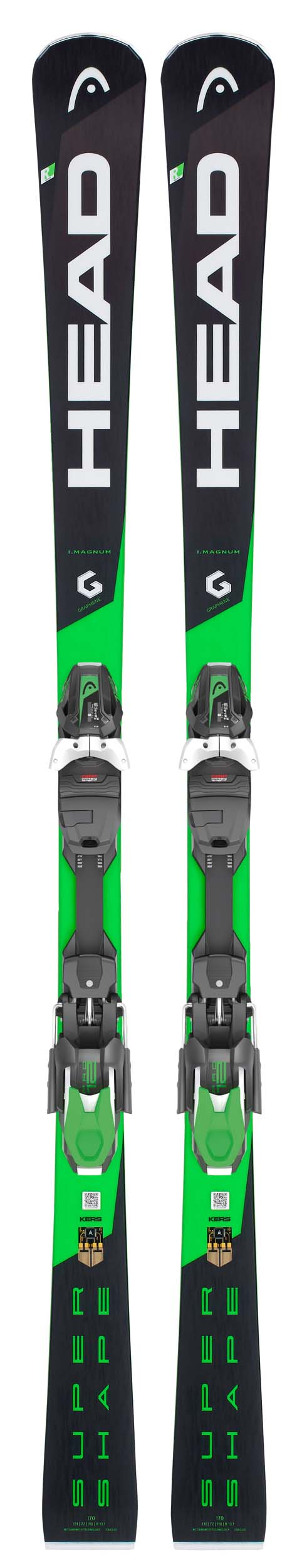 Head 2019 Supershape i.Magnum Skis w/PRD 12 GW Bindings NEW !! 163cm