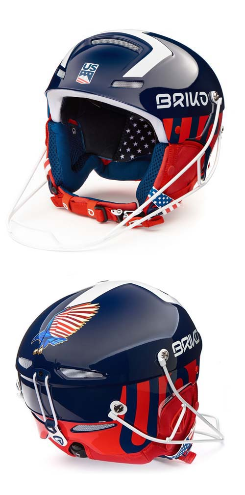 Briko 2020 Slalom USSA Blue,White,Red Helmet NEW !! Size: 56,58