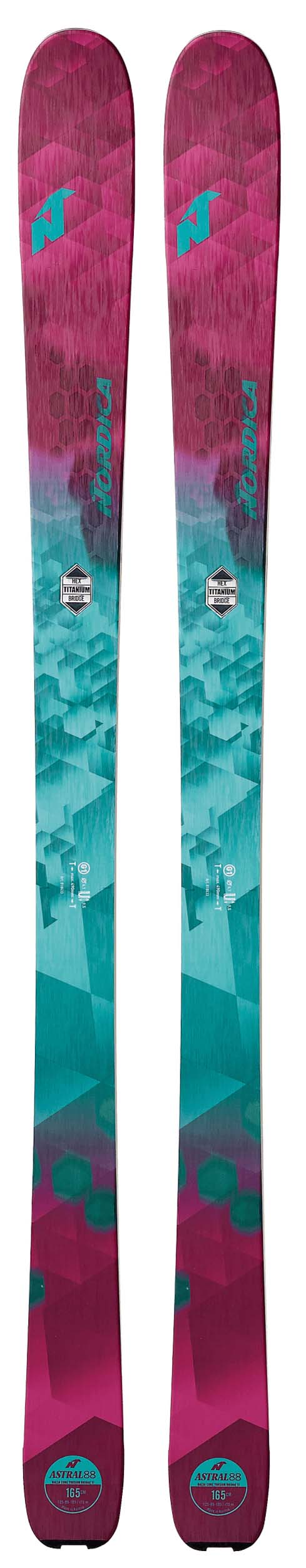 Nordica 2018 Astral 88 Skis (Without Bindings / Flat) NEW !! 151,165cm