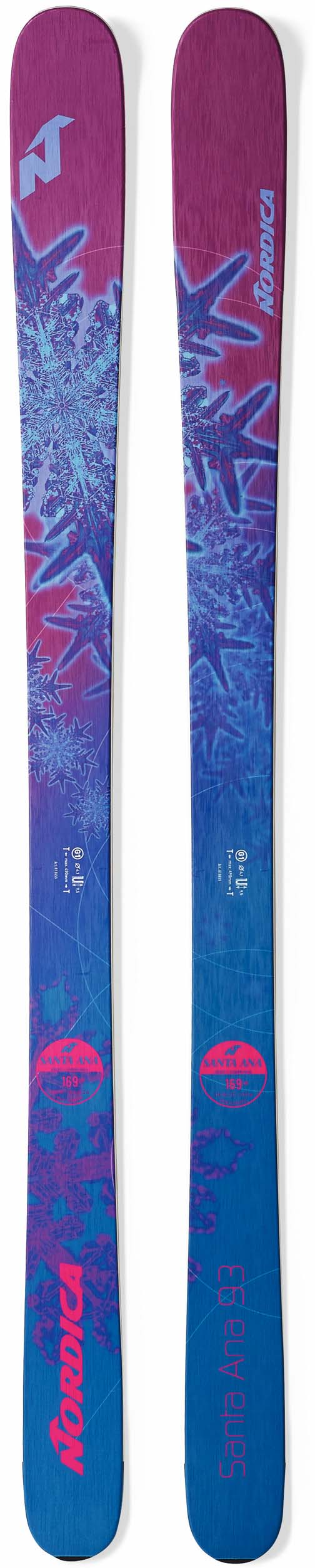 Nordica 2018 Santa Ana 93 Skis (Without Bindings / Flat) NEW !! 161cm