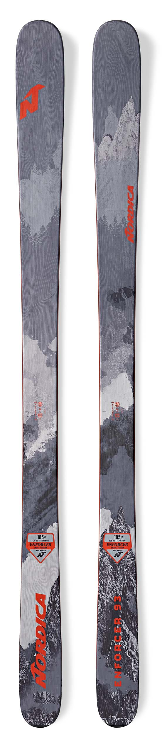 Nordica 2019 Enforcer 93 Skis (Without Bindings / Flat) NEW !! 169,177,185,193cm
