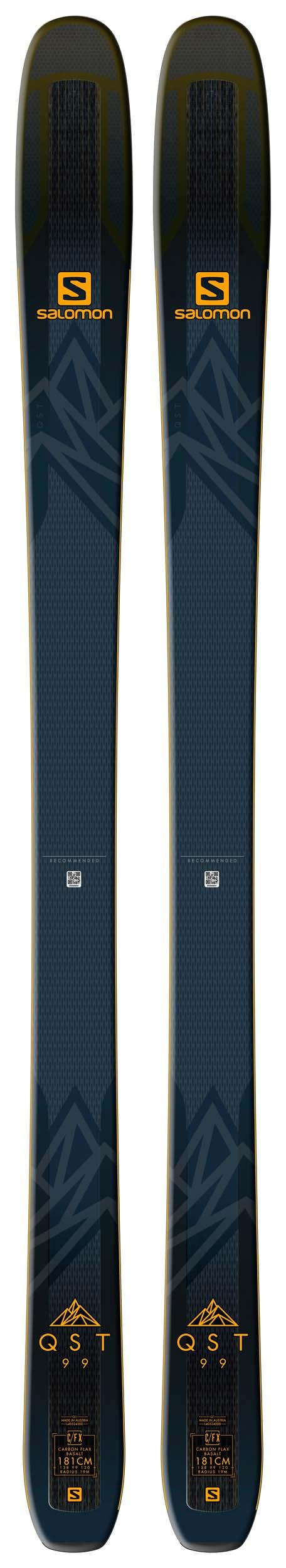 Salomon 2019 QST 99 Skis (Without Bindings / Flat) NEW !! 174,181,188cm