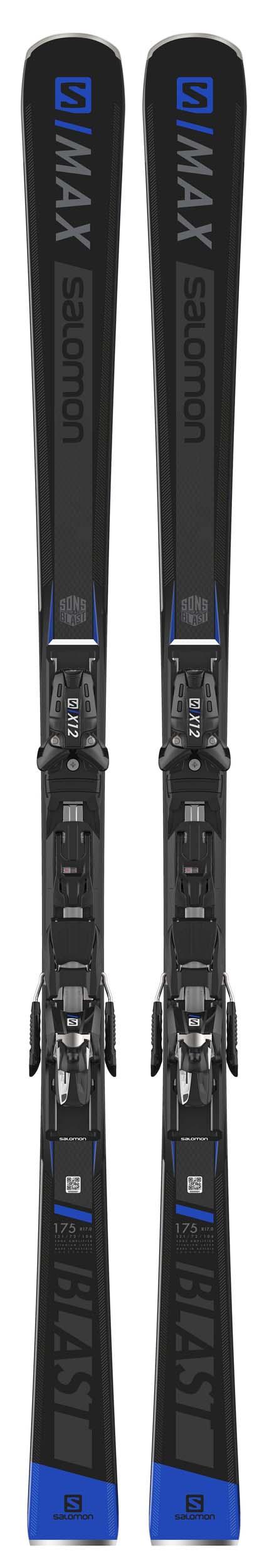 Salomon 2019 S/Max Blast Skis w/X12 TL Bindings NEW !! 165cm