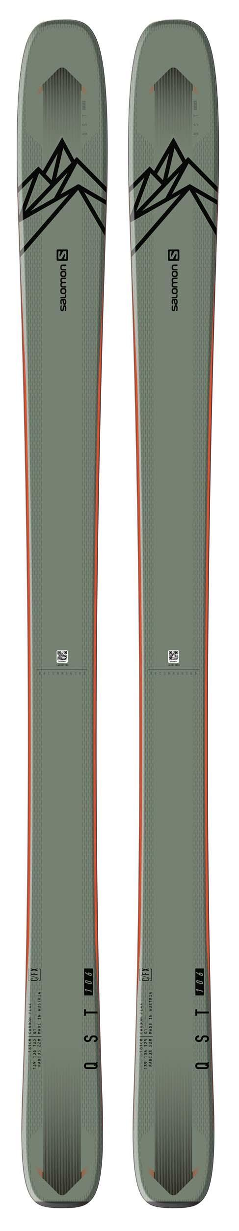 Salomon 2021 QST 106 Skis (Without Bindings / Flat) NEW !! 167,174,181,188cm