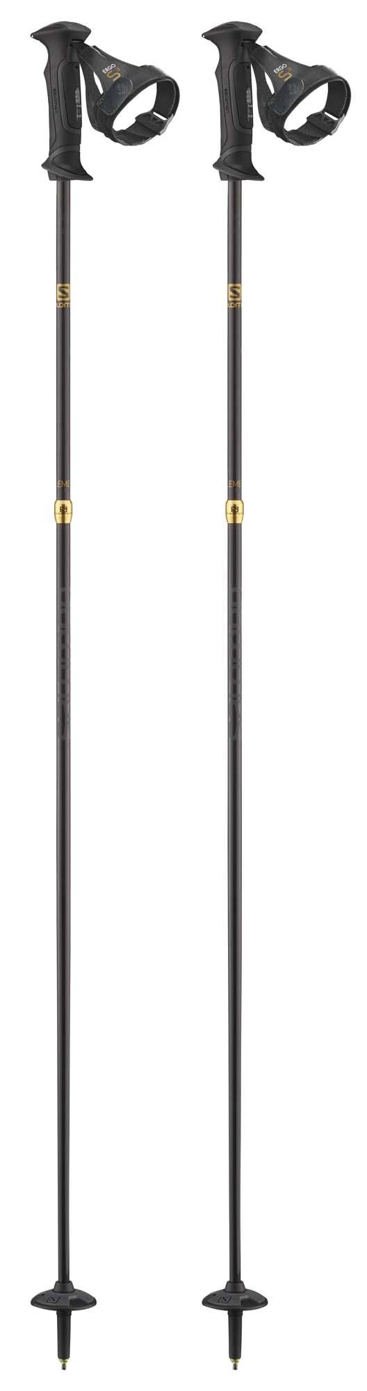 Salomon 2021 Element Carbon Ergo S3 Ski Poles NEW !! 120,125,130cm