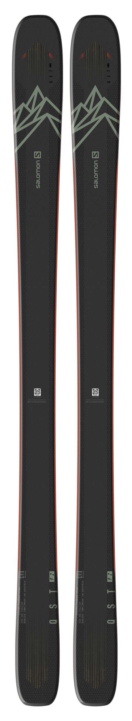 Salomon 2021 QST 92 Skis (Without Bindings / Flat) NEW !! 161,177,185cm