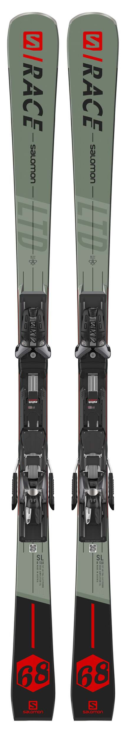 Salomon 2021 S/Race 68 Skis w/X12 TL GW Bindings NEW !! 165,170cm
