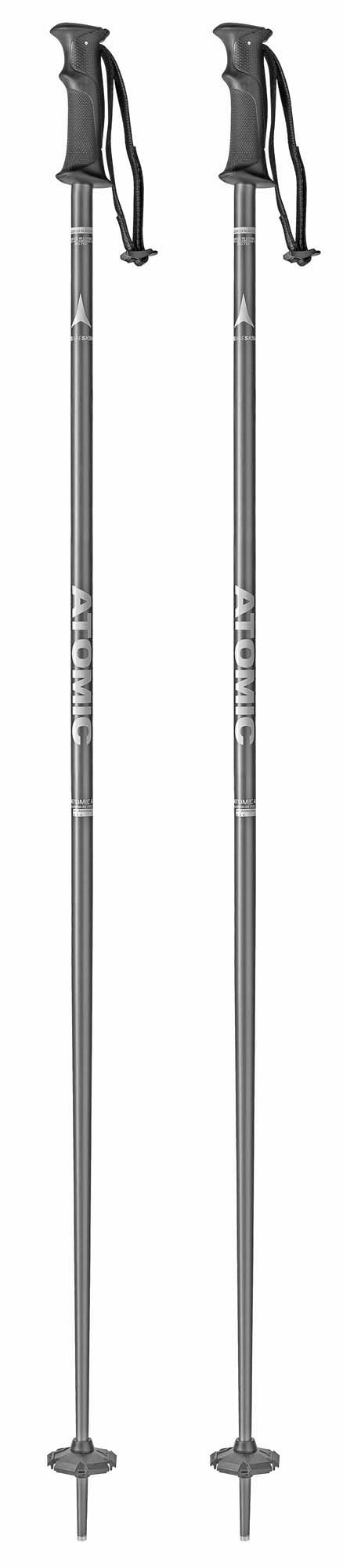 Atomic 2018 AMT Blk/Wht Ski Poles NEW !! 120,135cm