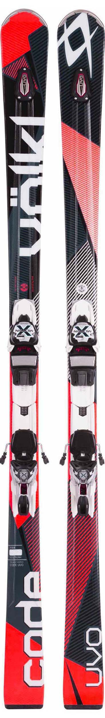 Volkl 2017 Code UVO Skis w/xMotion 12.0 Bindings NEW !! 161,175cm