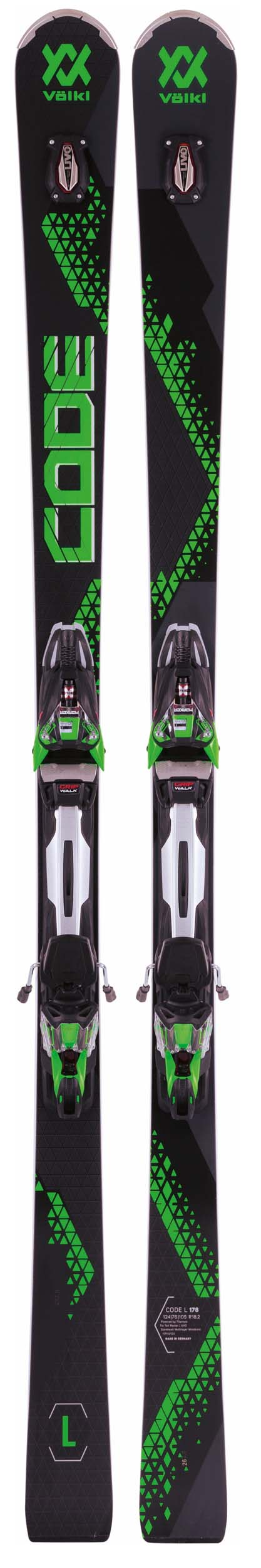 Volkl 2018 Code L Skis w/rMotion2 12.0 Bindings NEW !! 178cm