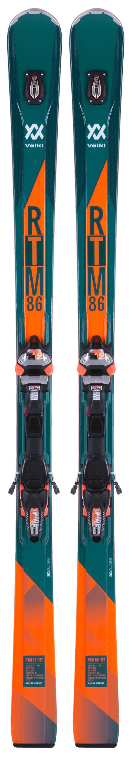 Volkl 2018 RTM 86 Skis w/WR XL 12 FR GW Bindings NEW !! 167,172,177,182cm