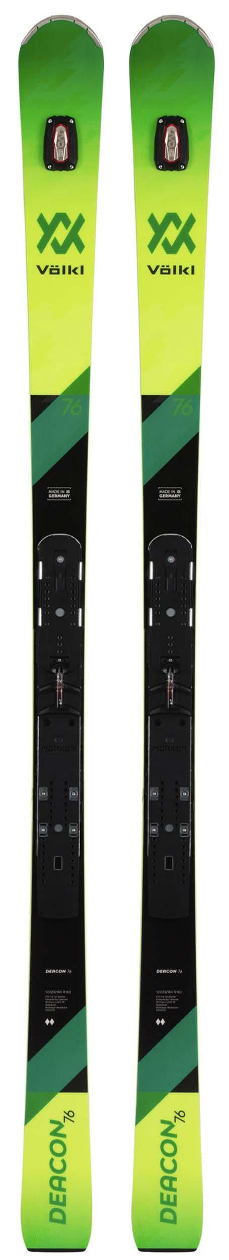 Volkl 2020 Deacon 76 Pro Skis w/Marker Piston Plates NEW !! 176,181cm